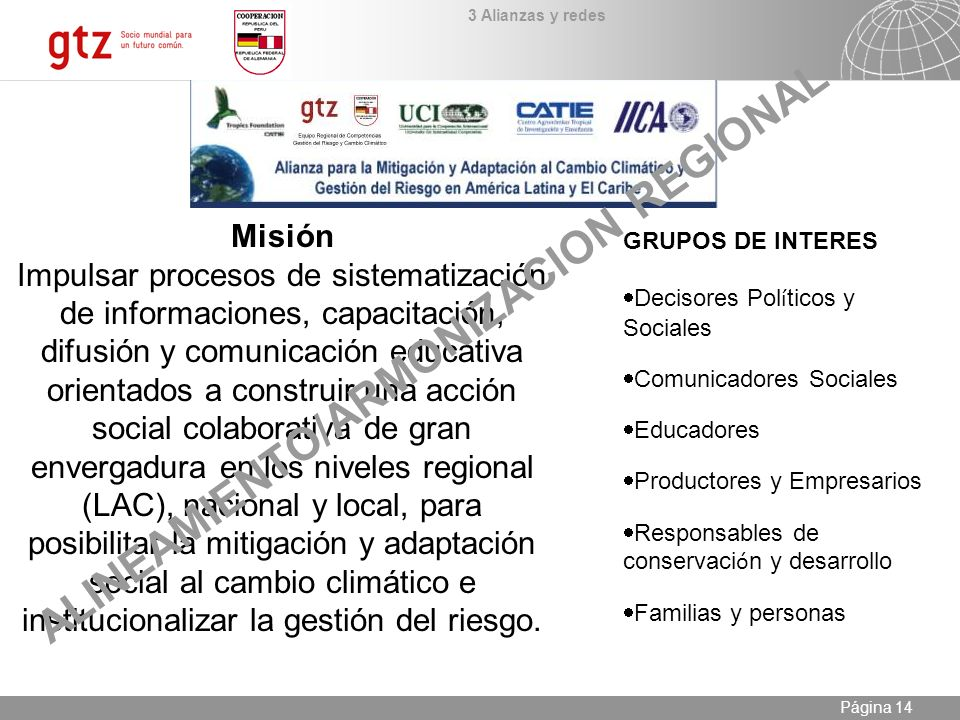 ALINEAMIENTO/ARMONIZACION REGIONAL