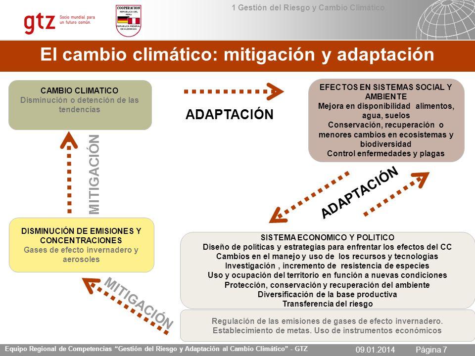 El cambio climático: mitigación y adaptación