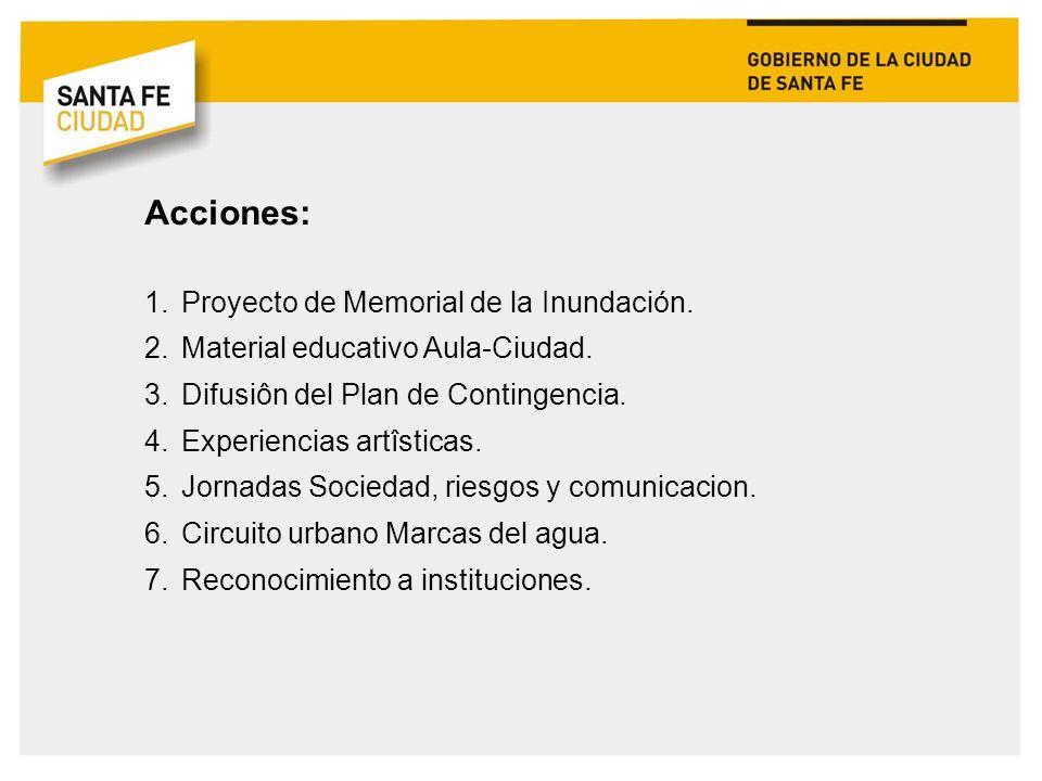 Acciones: Proyecto de Memorial de la Inundación.