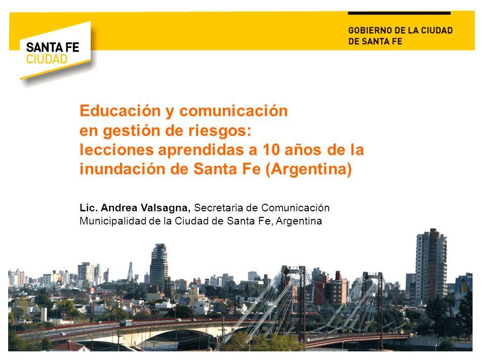 Educación y comunicación en gestión de riesgos: