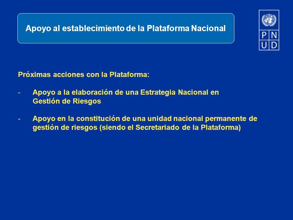 Apoyo al establecimiento de la Plataforma Nacional