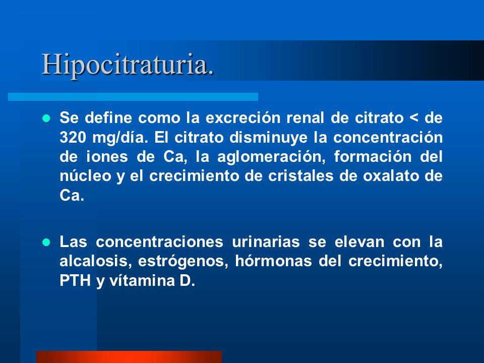 Hipocitraturia.