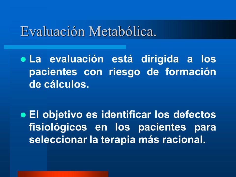Evaluación Metabólica.
