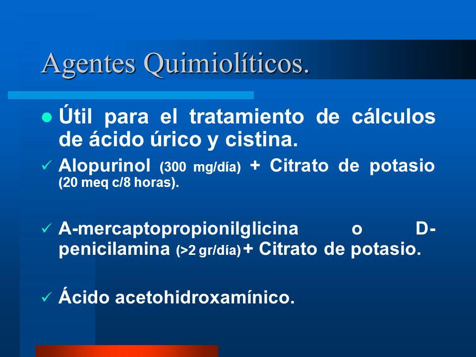 Agentes Quimiolíticos.