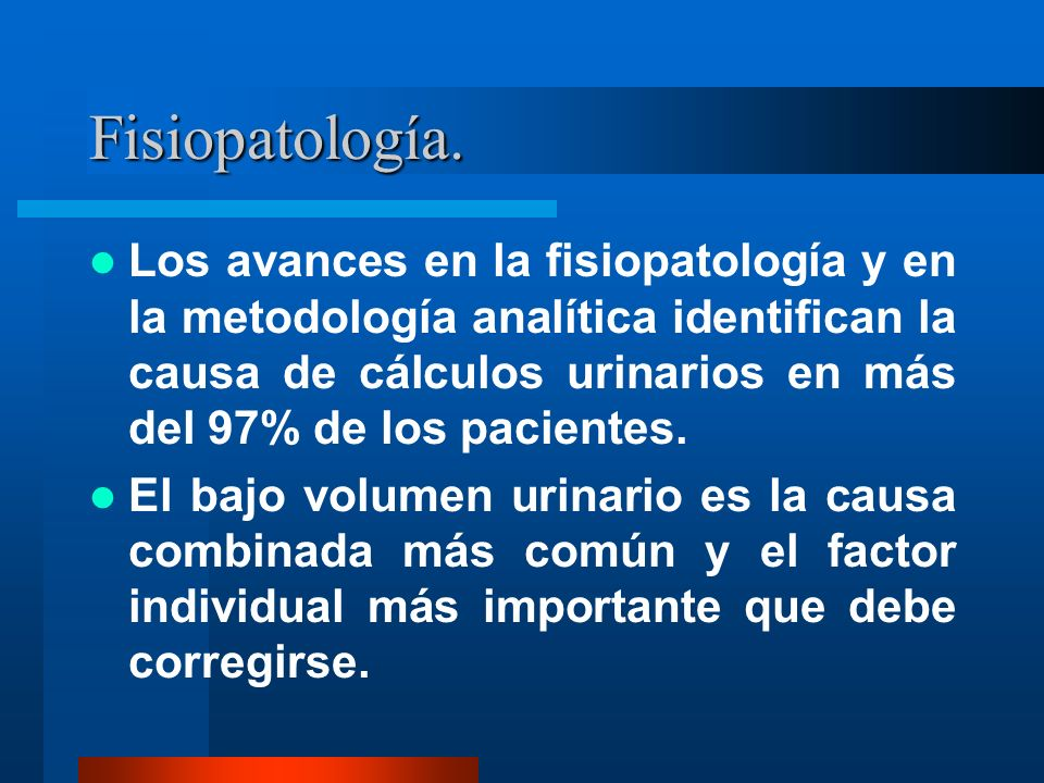Fisiopatología.