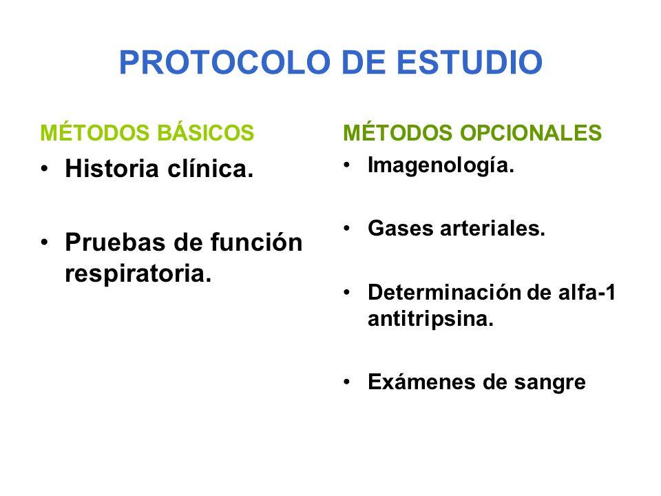 PROTOCOLO DE ESTUDIO Historia clínica.