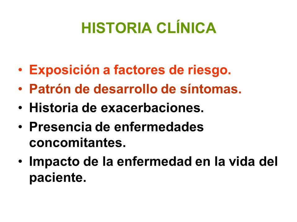 HISTORIA CLÍNICA Exposición a factores de riesgo.