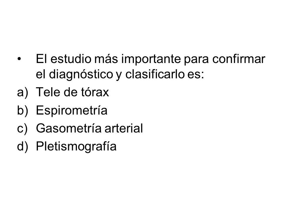 El estudio más importante para confirmar el diagnóstico y clasificarlo es: