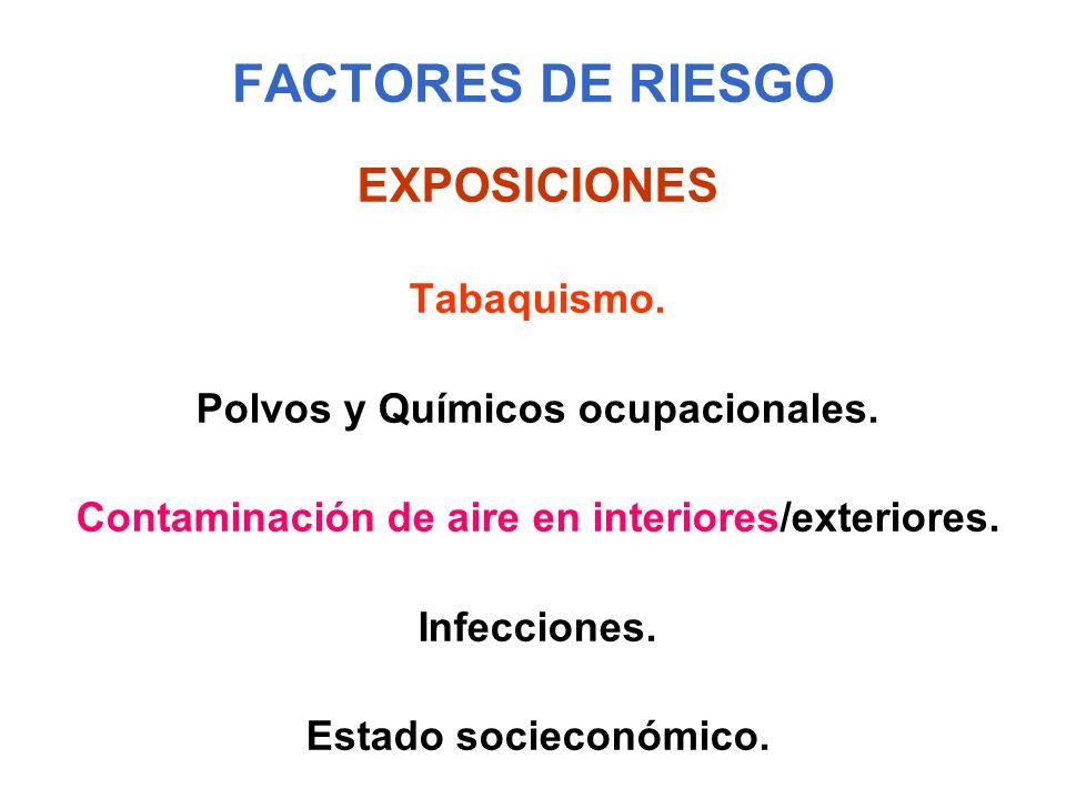 FACTORES DE RIESGO EXPOSICIONES Tabaquismo.