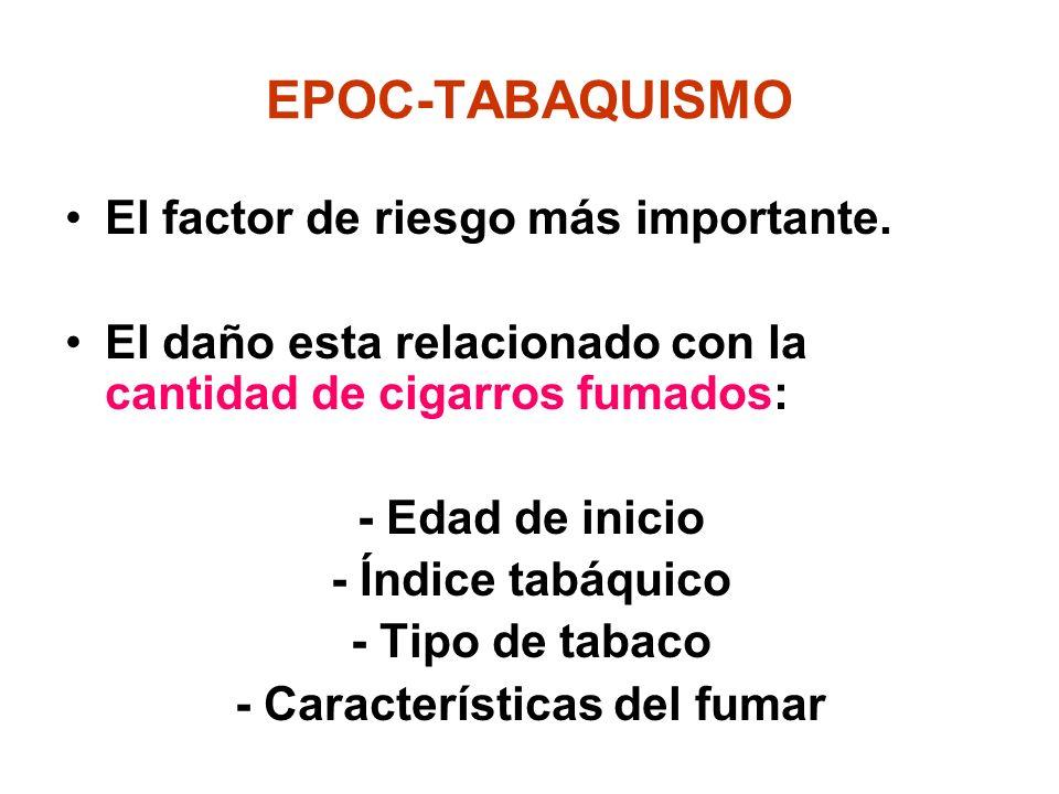- Características del fumar
