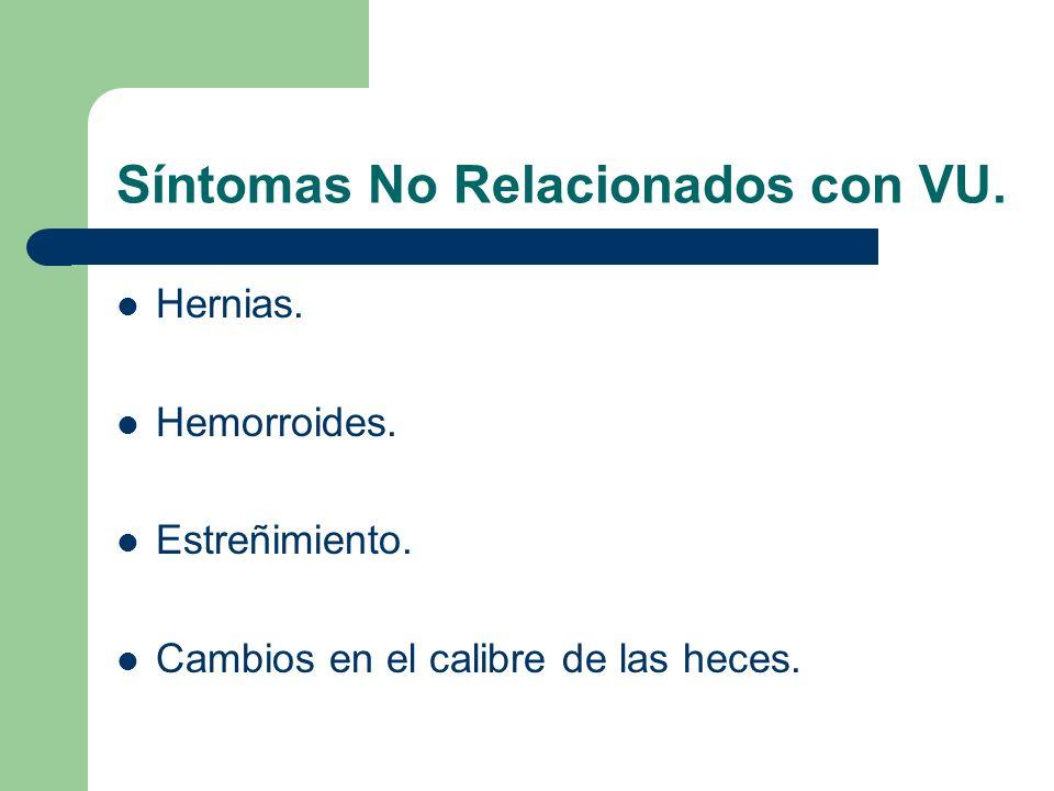 Síntomas No Relacionados con VU.