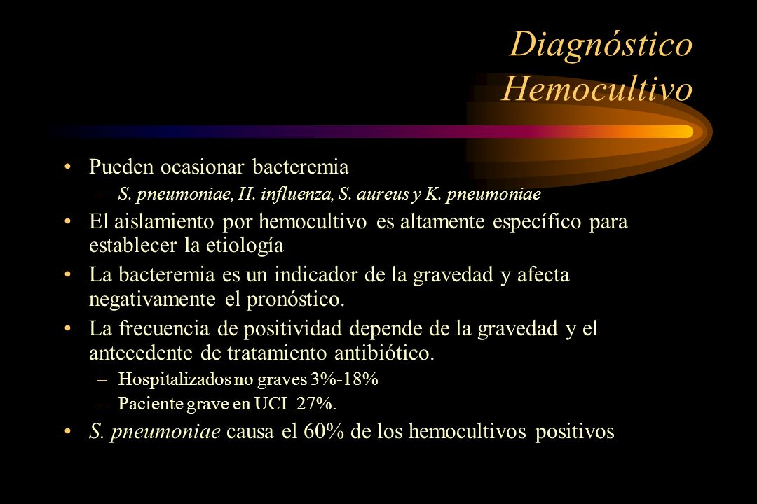 Diagnóstico Hemocultivo