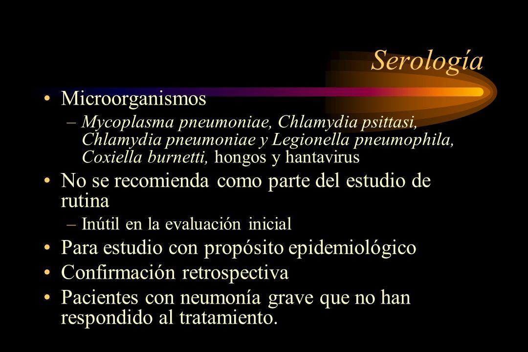 Serología Microorganismos