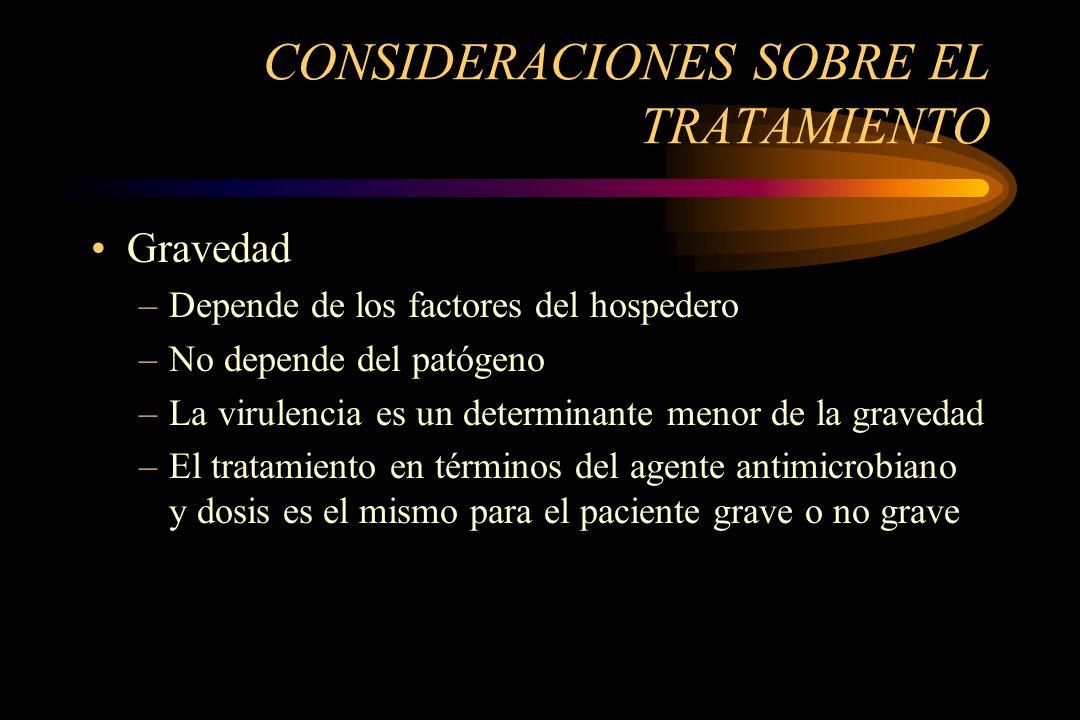 CONSIDERACIONES SOBRE EL TRATAMIENTO