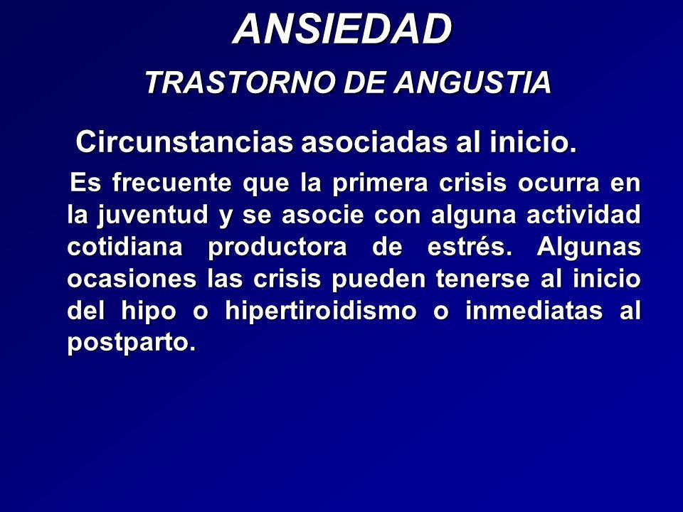 ANSIEDAD TRASTORNO DE ANGUSTIA