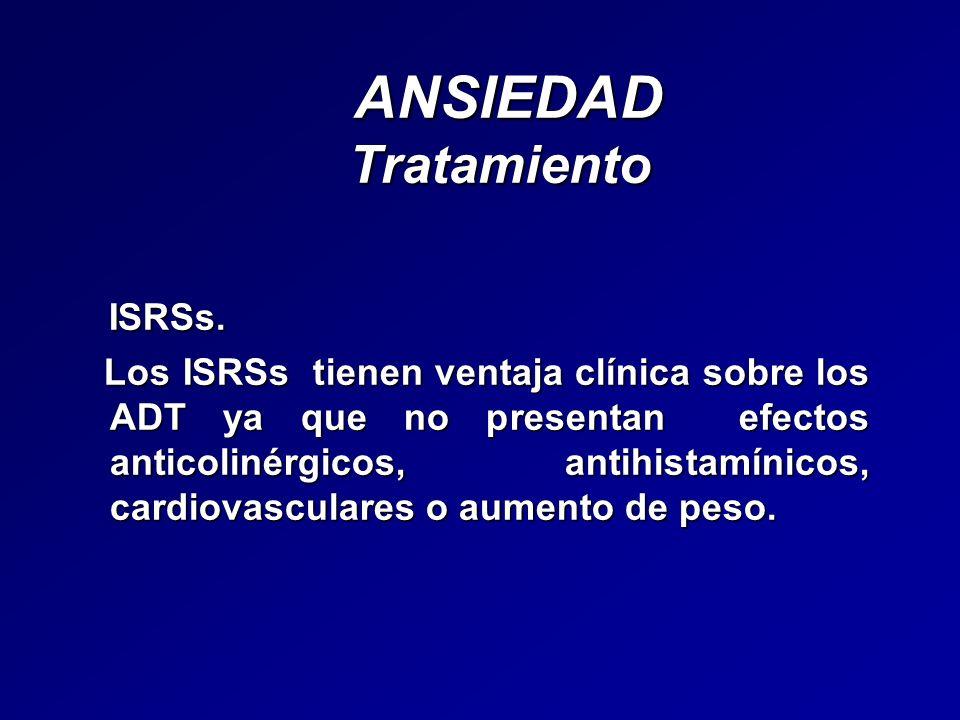 ANSIEDAD Tratamiento ISRSs.