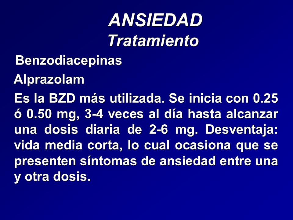 ANSIEDAD Tratamiento Benzodiacepinas Alprazolam
