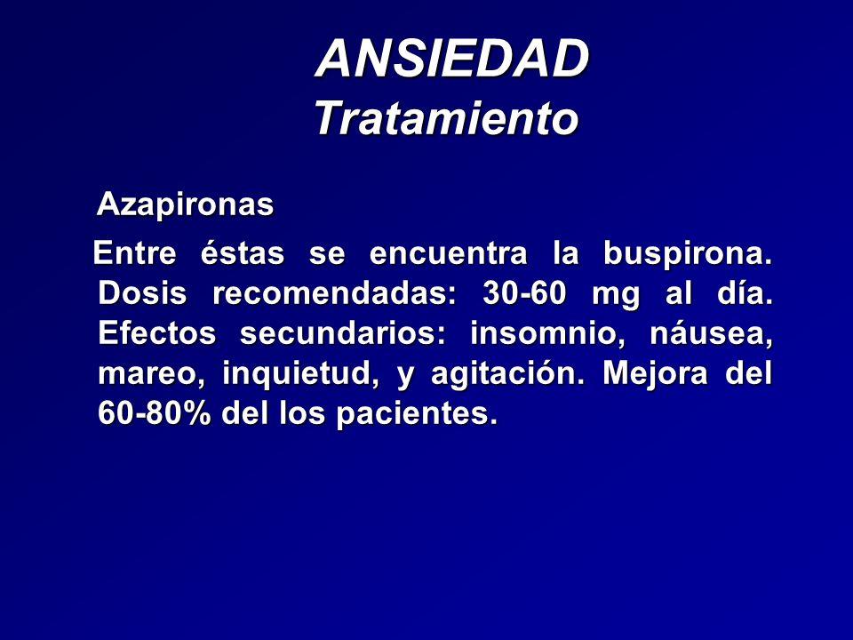 ANSIEDAD Tratamiento Azapironas