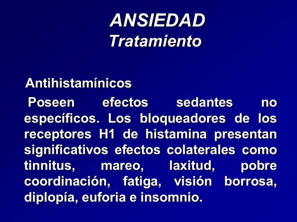 ANSIEDAD Tratamiento Antihistamínicos
