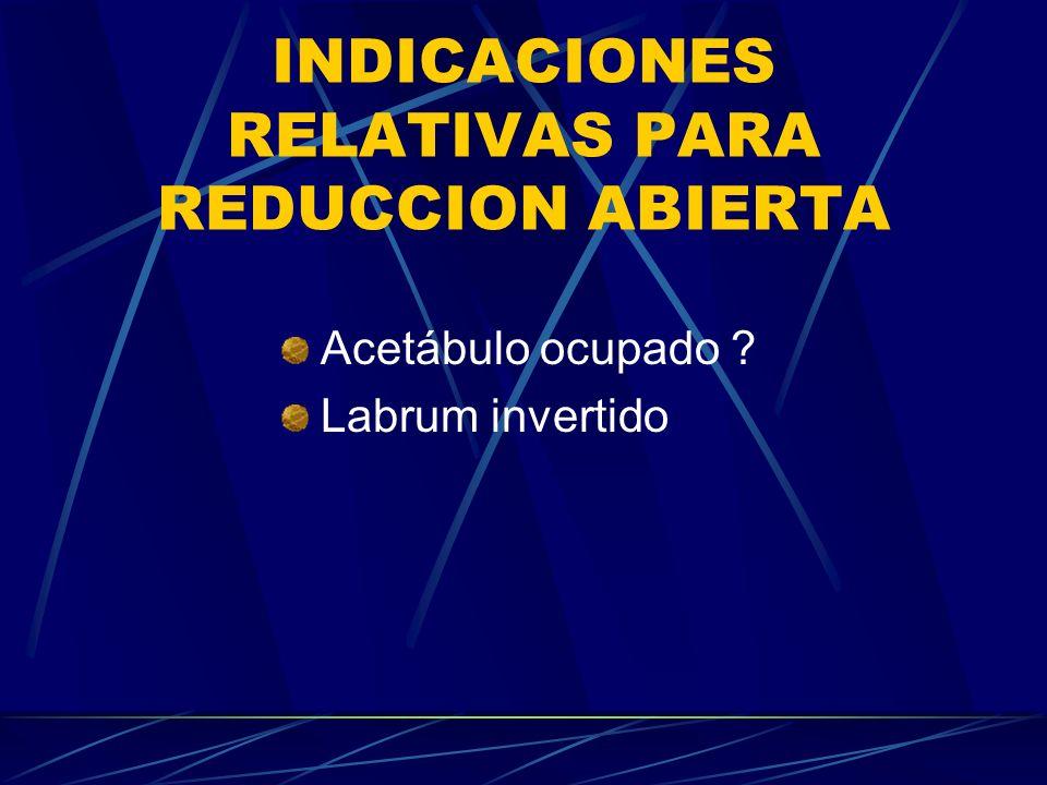 INDICACIONES RELATIVAS PARA REDUCCION ABIERTA