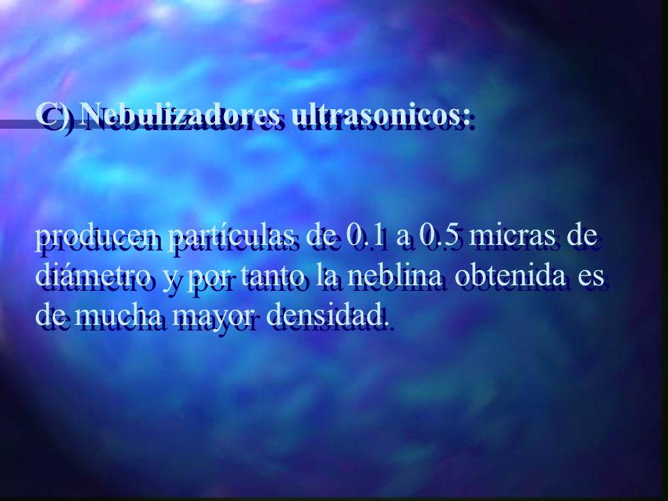 C) Nebulizadores ultrasonicos: