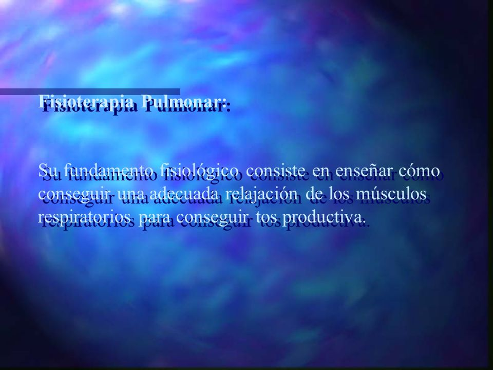 Fisioterapia Pulmonar:
