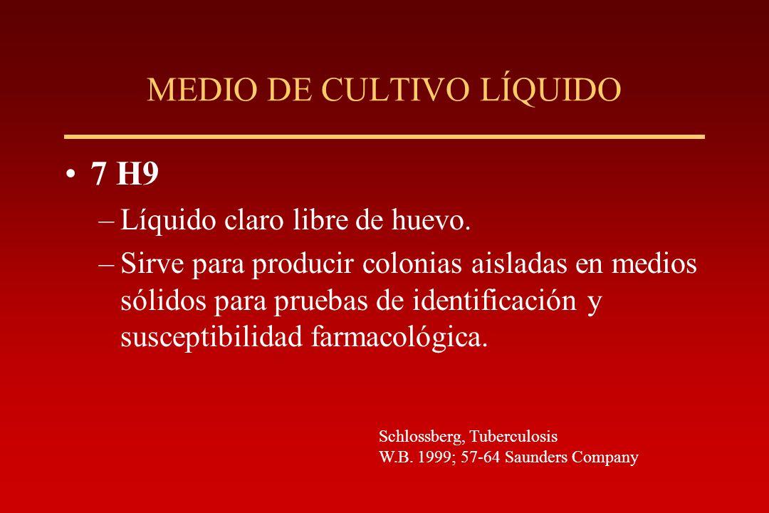MEDIO DE CULTIVO LÍQUIDO