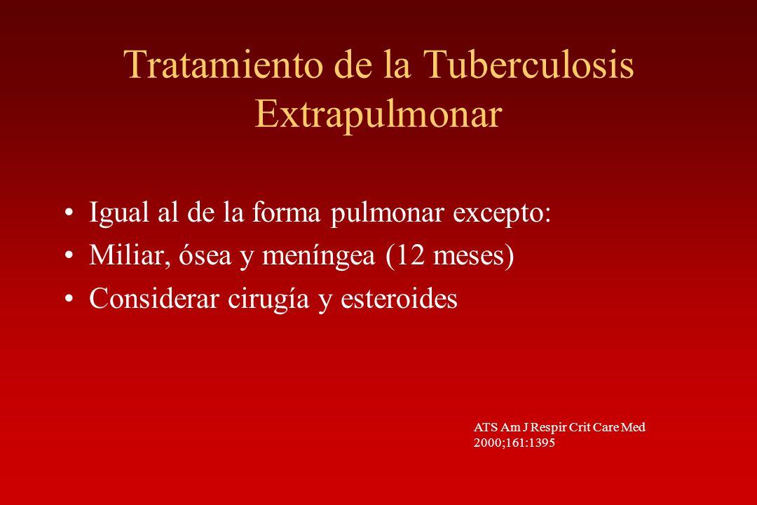 Tratamiento de la Tuberculosis Extrapulmonar