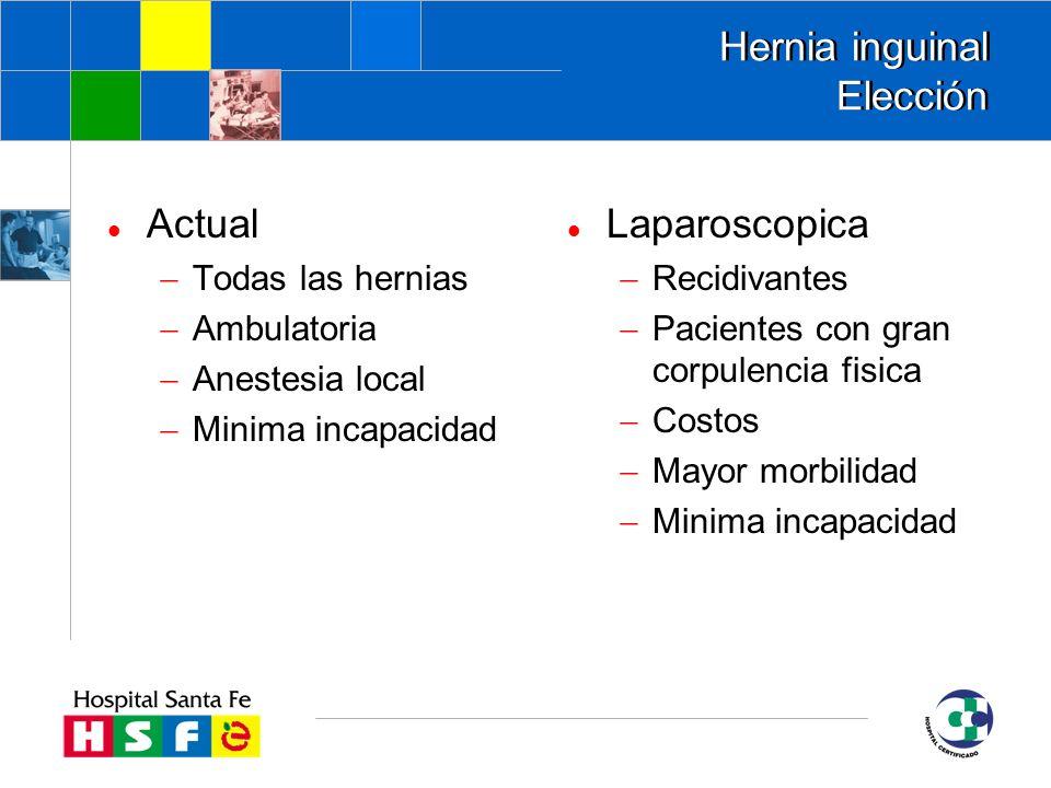 Hernia inguinal Elección