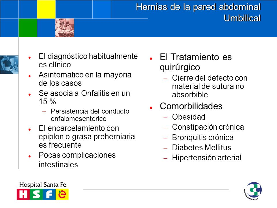 Hernias de la pared abdominal Umbilical