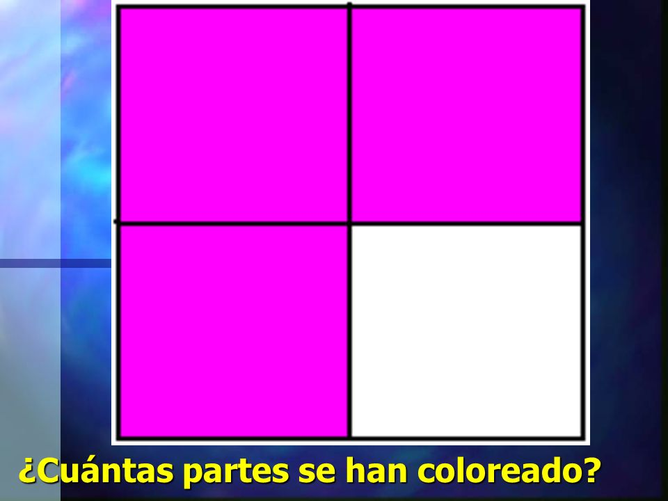 ¿Cuántas partes se han coloreado