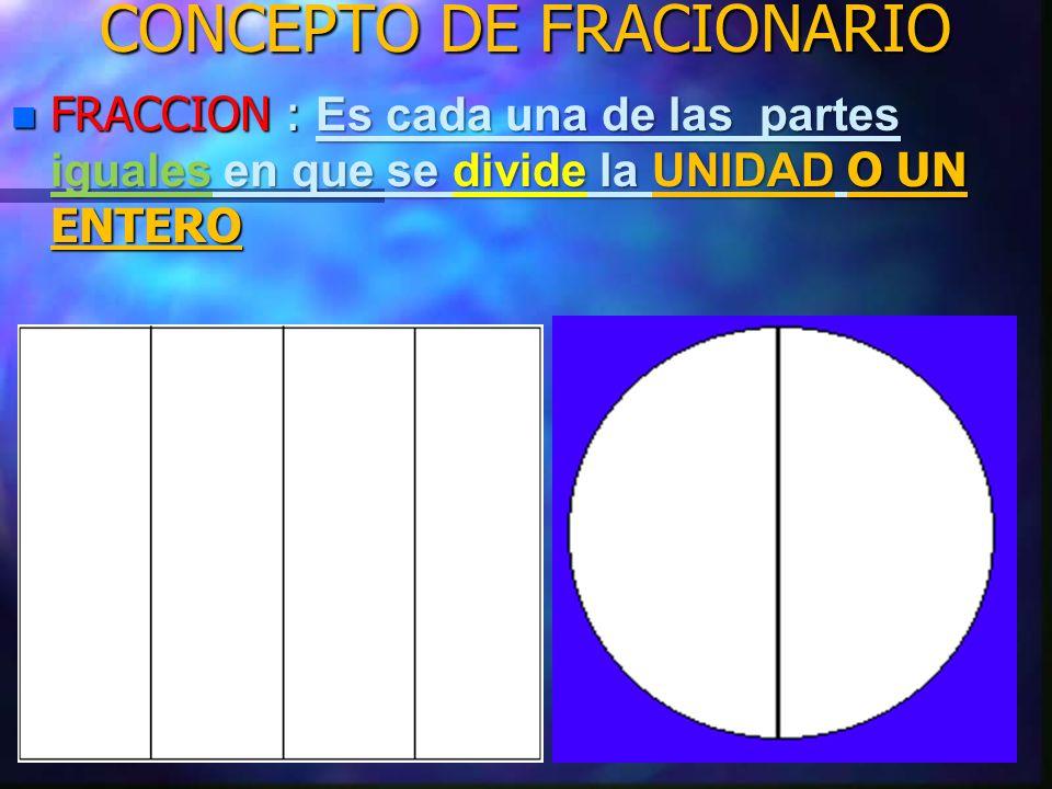 CONCEPTO DE FRACIONARIO