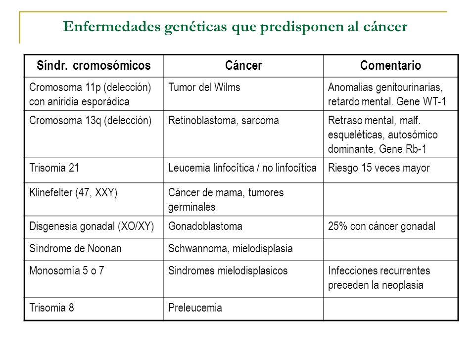 Enfermedades genéticas que predisponen al cáncer