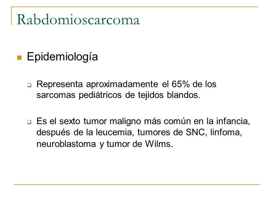 Rabdomioscarcoma Epidemiología