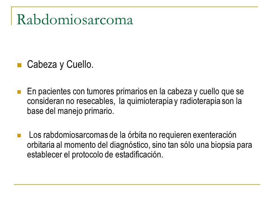 Rabdomiosarcoma Cabeza y Cuello.
