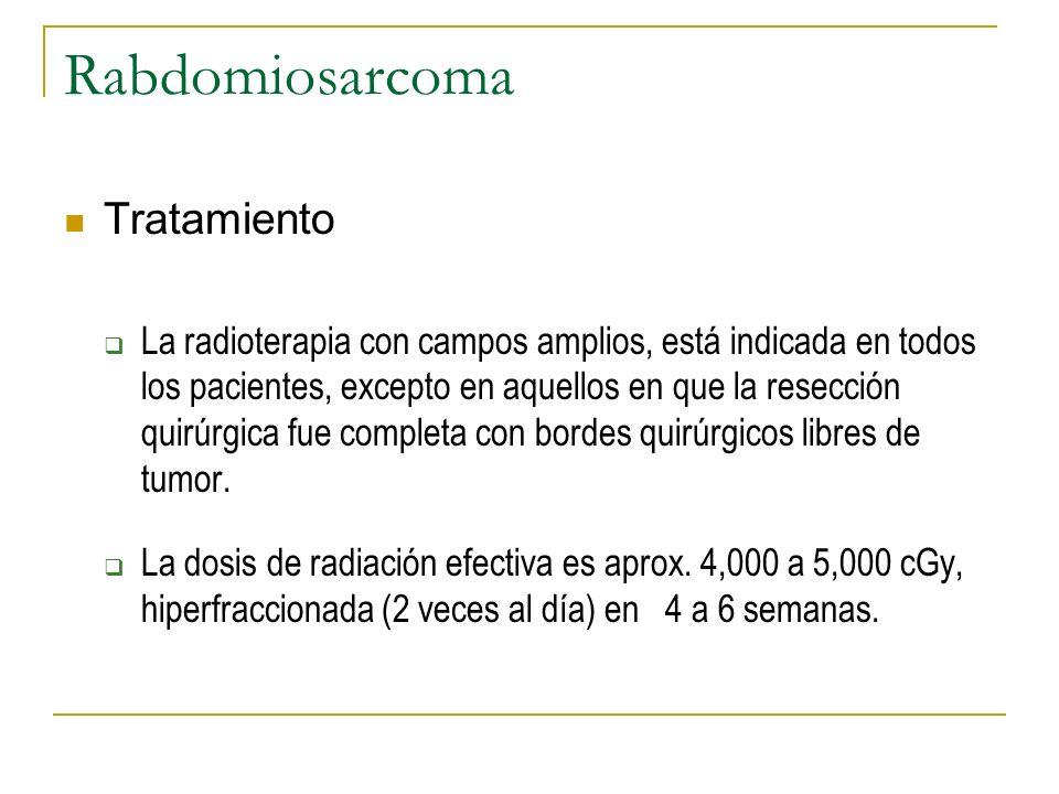 Rabdomiosarcoma Tratamiento
