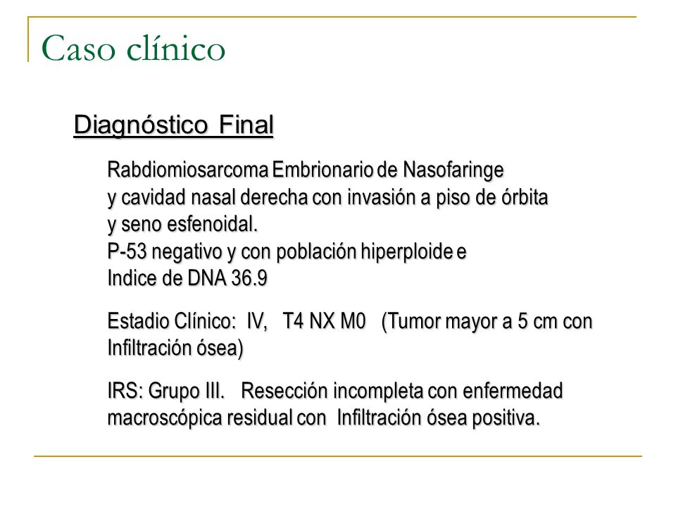 Caso clínico Diagnóstico Final