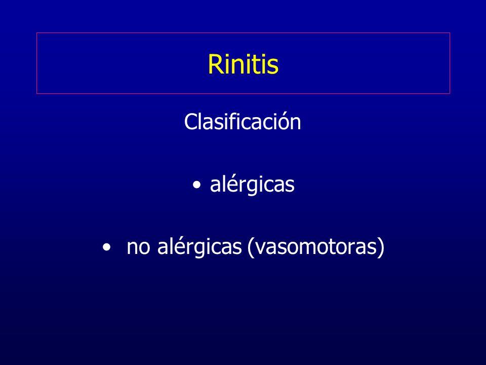no alérgicas (vasomotoras)