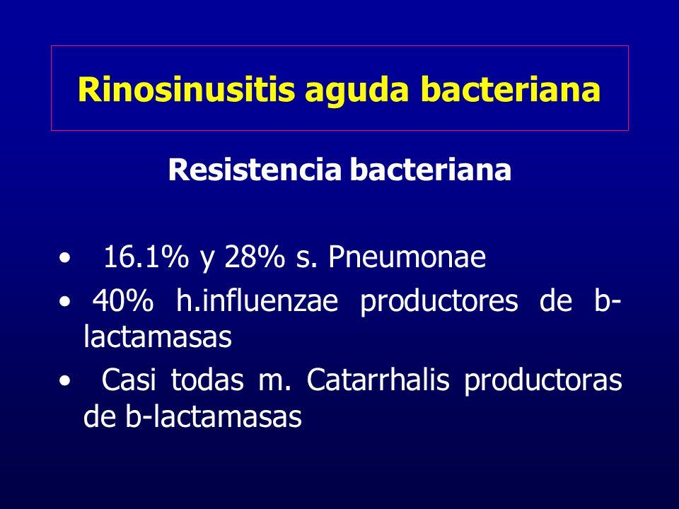 Rinosinusitis aguda bacteriana