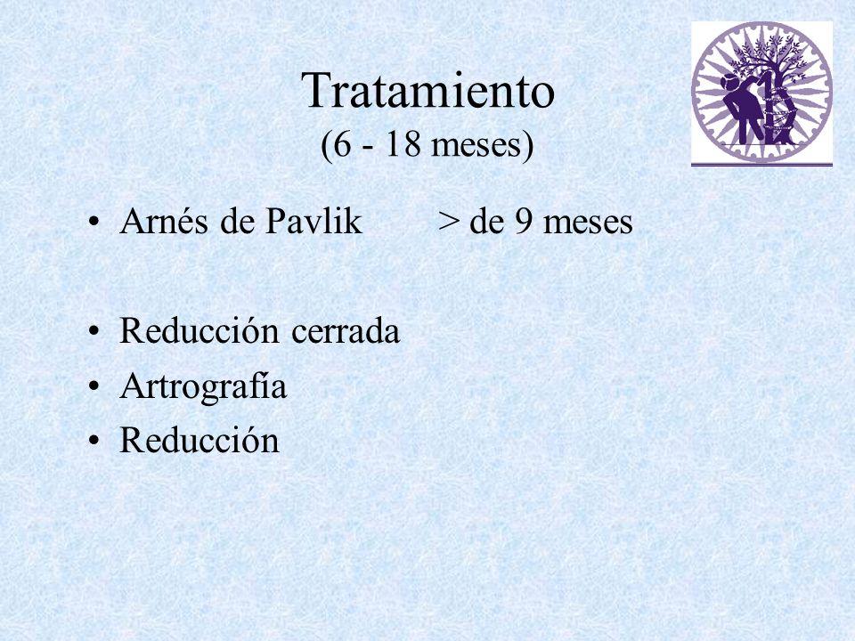 Tratamiento (6 - 18 meses) Arnés de Pavlik > de 9 meses