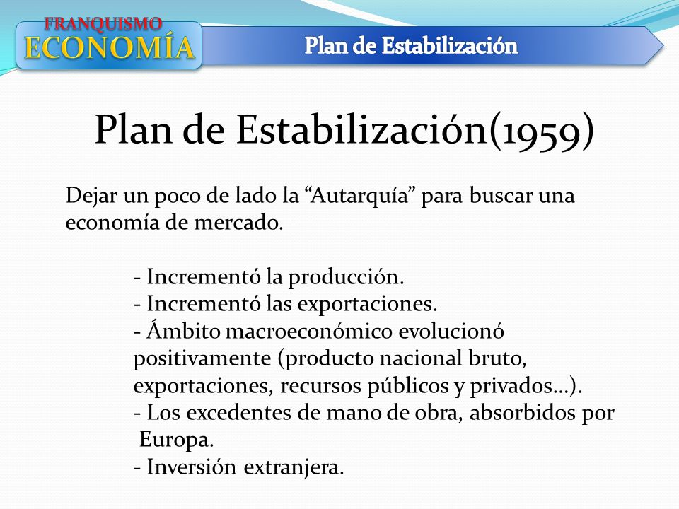 Plan de Estabilización(1959)