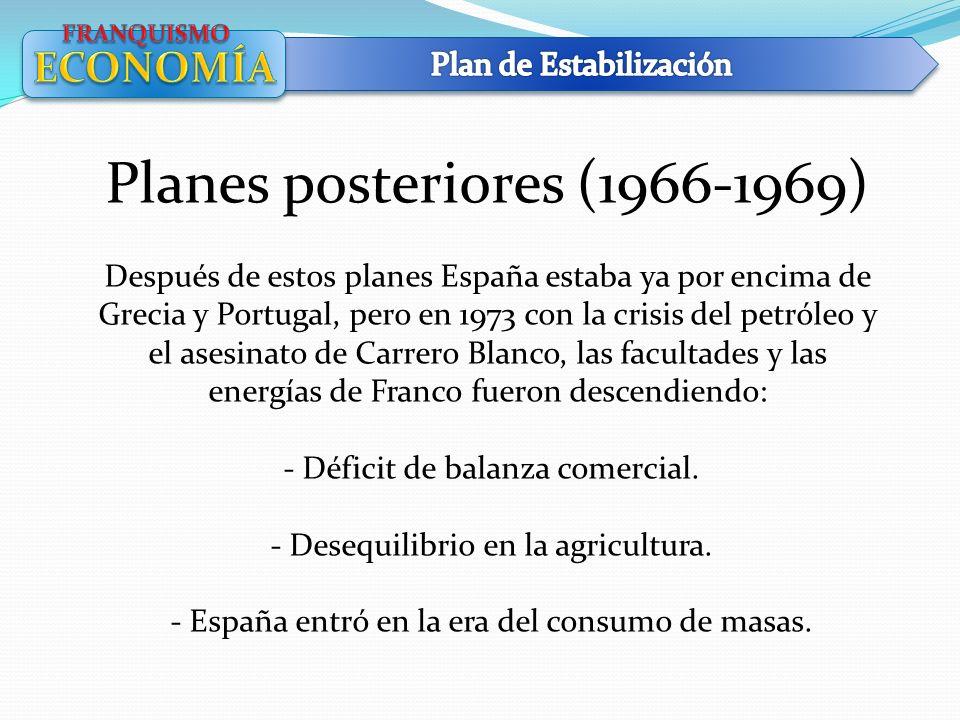 Planes posteriores (1966-1969)