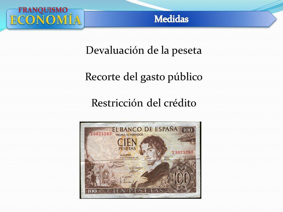 ECONOMÍA Devaluación de la peseta Recorte del gasto público