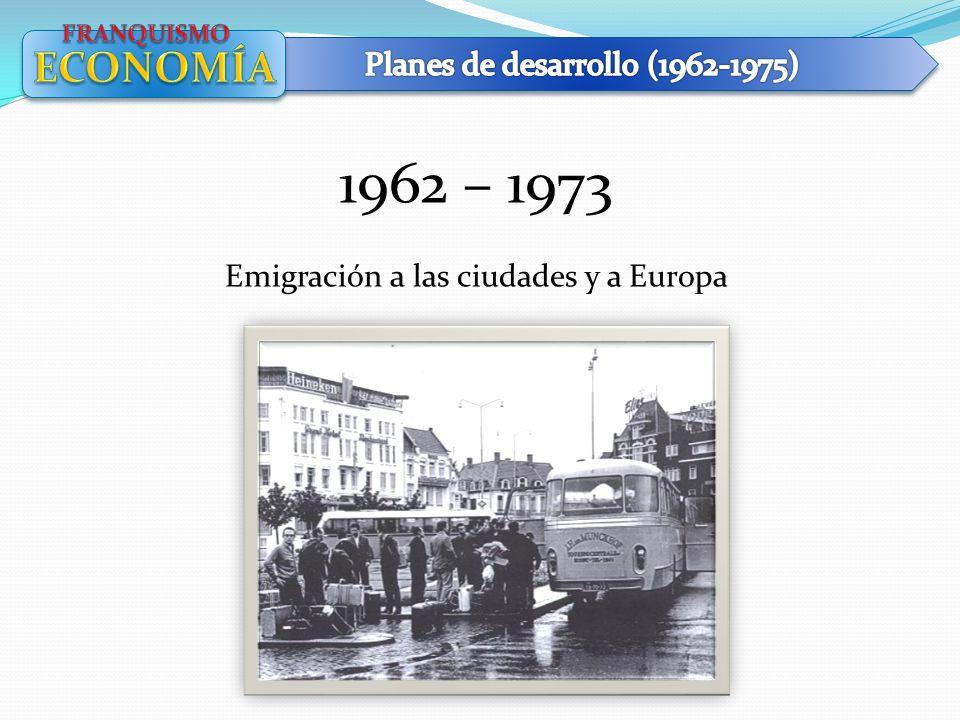 1962 – 1973 ECONOMÍA Planes de desarrollo (1962-1975)