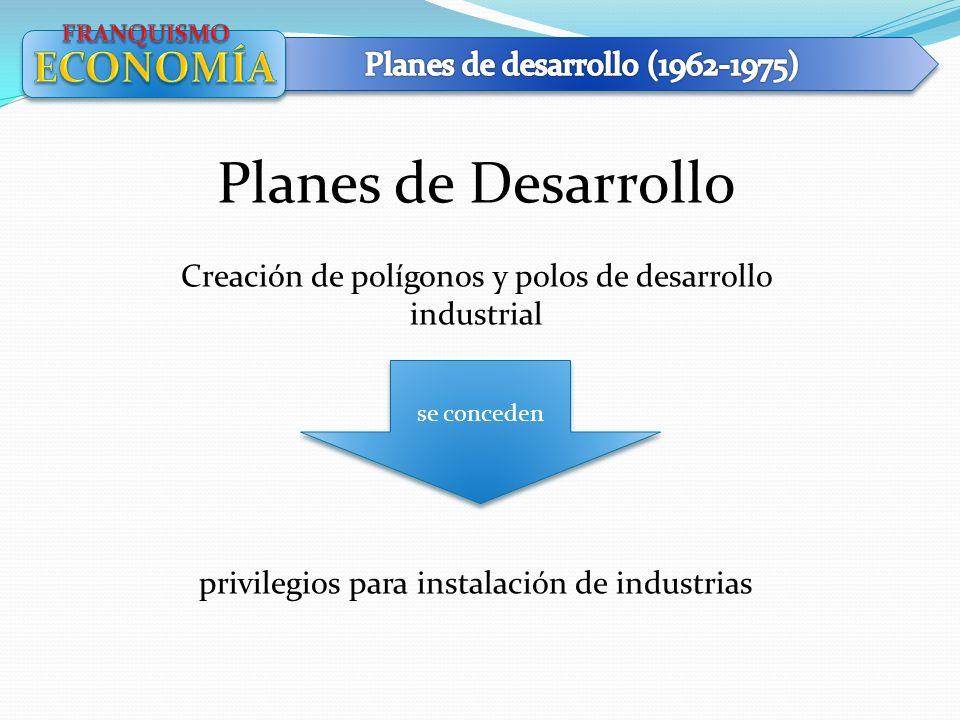 Planes de Desarrollo ECONOMÍA Planes de desarrollo (1962-1975)