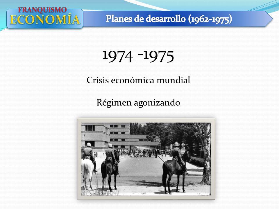 1974 -1975 ECONOMÍA Planes de desarrollo (1962-1975)