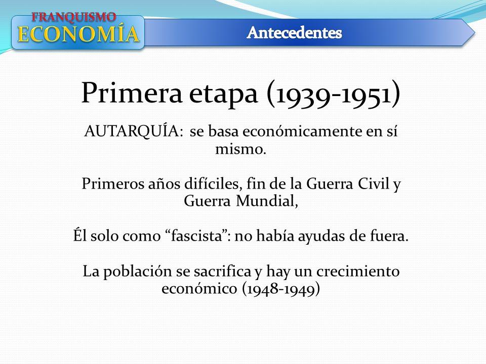 Primera etapa (1939-1951) ECONOMÍA Antecedentes