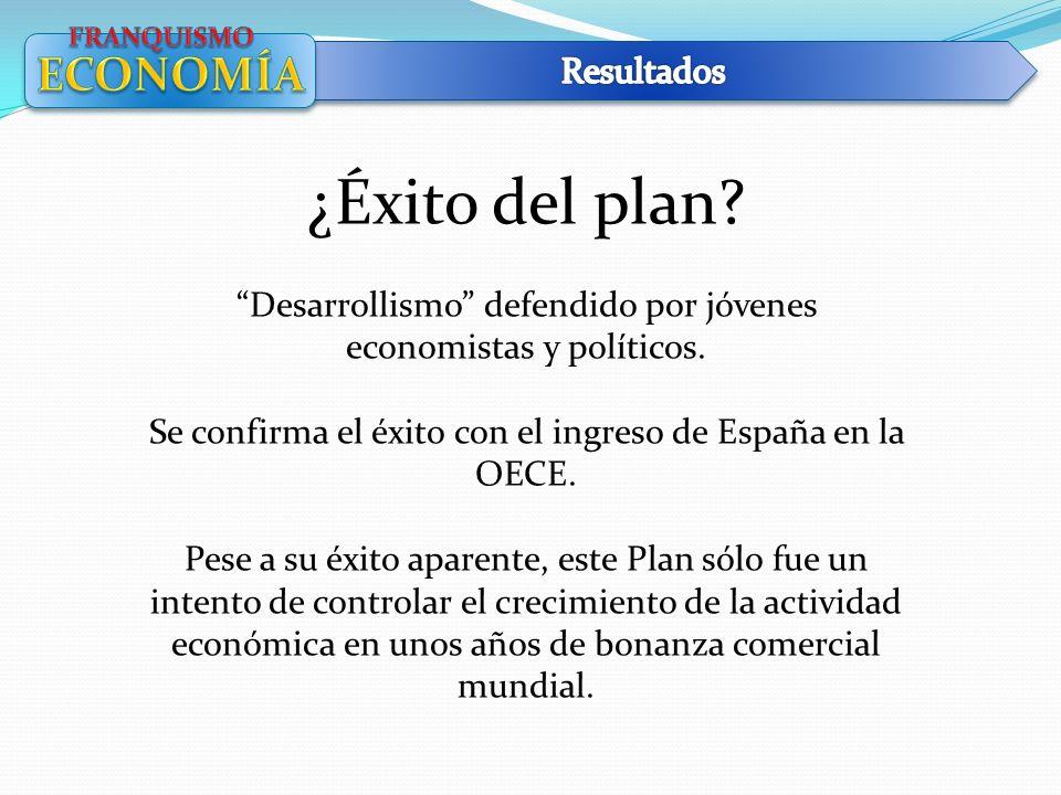 ¿Éxito del plan ECONOMÍA Resultados