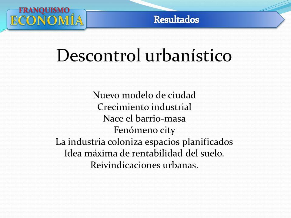 Descontrol urbanístico