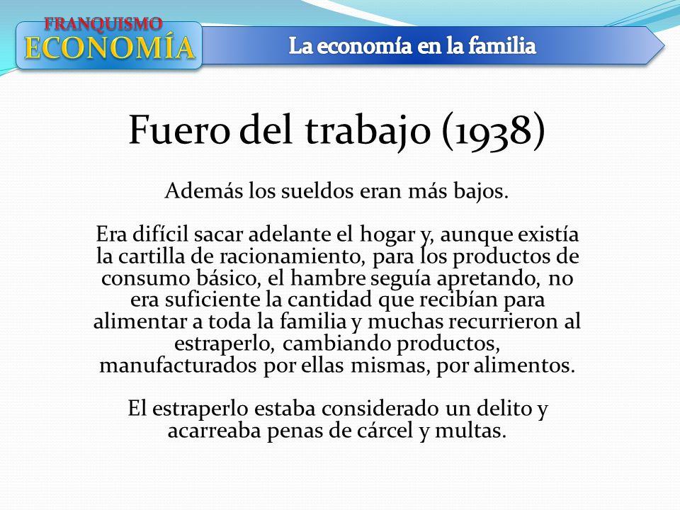 Fuero del trabajo (1938) ECONOMÍA La economía en la familia
